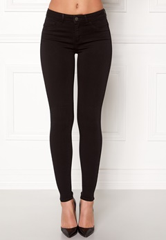 Pieces Shape-up Jeggings Black Bubbleroom.fi