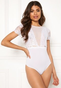 Pieces Sicca SS Bodystocking Bright White Bubbleroom.fi