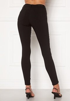 Pieces Skin Wear MW Jeggings Black Bubbleroom.fi