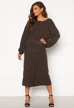 Pieces Suna HW Knit Skirt Mole Bubbleroom.fi