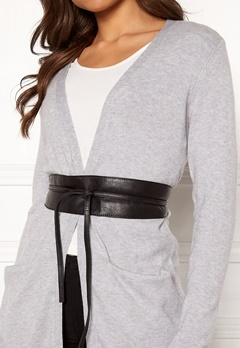 Pieces Vibs Leather Waist Belt Black Bubbleroom.fi