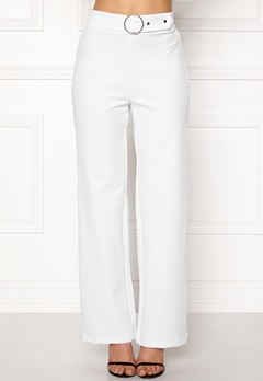 Pieces Vicca HW Vide Pants Bright White Bubbleroom.fi
