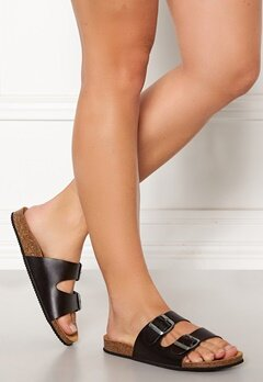 Pieces Coco Leather Sandals Black Bubbleroom.fi