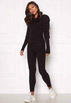 Girl In Mind Piper Ribbed Loungewear Set Black Bubbleroom.fi