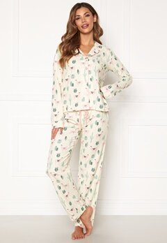 PJ. Salvage PJ Fit Flannel Set Ivory Bubbleroom.fi