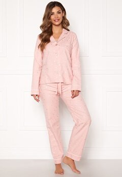 PJ. Salvage PJ Fit Flannel Set Rose Quartz Bubbleroom.fi