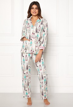 PJ. Salvage PJ Flannel Set Natural Bubbleroom.fi