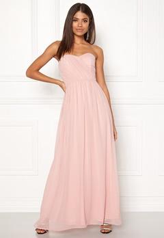 New Look Plain Bandeau Maxi Dress Shell Pink Bubbleroom.fi