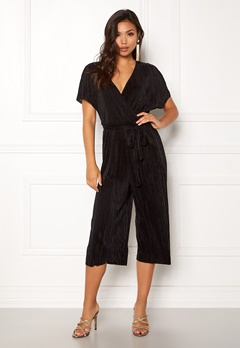 New Look Plain Wrap Jumpsuit Black Bubbleroom.fi