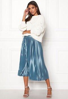 ICHI Pleat Skirt Blue Shadow Bubbleroom.fi