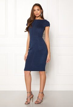 Closet London Pleated Cap Sleeve Dress Navy Bubbleroom.fi