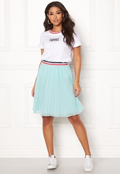 TOMMY JEANS Pleated Skirt 407 Canal Blue Bubbleroom.fi