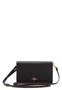 COACH Polished Pebble Foldover Black Bubbleroom.fi