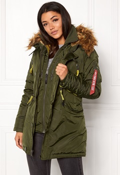 Alpha Industries PPS N3B Wmn Jacket Dark Green Bubbleroom.fi
