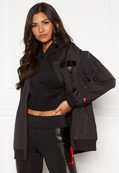 PUMA AL Long Bomber Jacket 001 Black Bubbleroom.fi