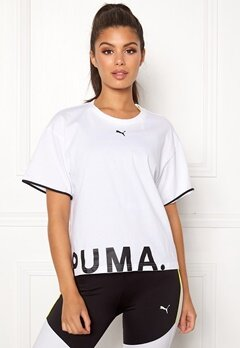 PUMA Chase Cotton Tee 002 White Bubbleroom.fi