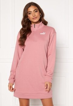 PUMA Ess + Half Zip Dress 016 Pink Bubbleroom.fi