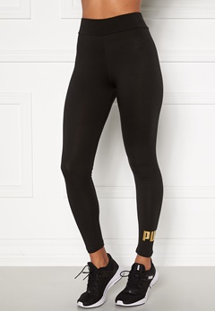 PUMA Ess Logo Leggings 091 Black Bubbleroom.fi
