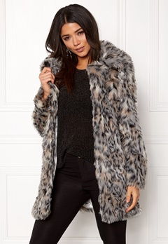 QED London Wild Cat Faux Fur Coat Wild Cat Bubbleroom.fi