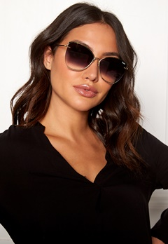 Quay Australia Dusk To Dawn Sunglasses Gold/Smoke Lens Bubbleroom.fi