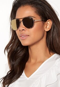 Quay Australia High Key Mini Sunglasses Gold/Gold Mirror Bubbleroom.fi