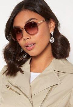 Quay Australia Jezabell Chain Sunglasses Gold/Brown Pink Bubbleroom.fi