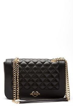 Love Moschino Quilted Big Chain Bag Black/Gold Bubbleroom.fi