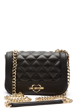 Love Moschino Quilted Small Chain Bag Black/Gold Bubbleroom.fi