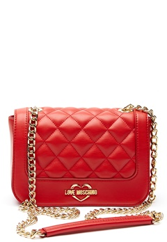 Love Moschino Quilted Small Chain Bag Red Bubbleroom.fi