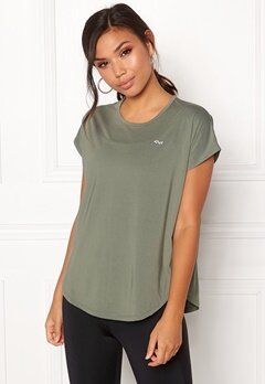 Röhnisch Leo Loose Top Combat Green Bubbleroom.fi