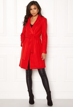 ONLY Rachel Wool Coat Goji Berry Bubbleroom.fi