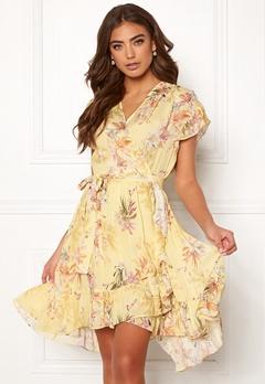Ravn Belly Dress Yellow Flower Bubbleroom.fi