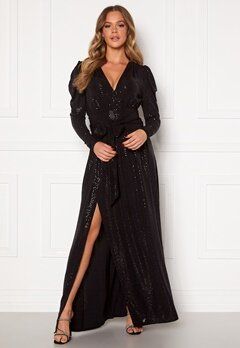 Ravn Tuesday Dress Black Sequin Bubbleroom.fi