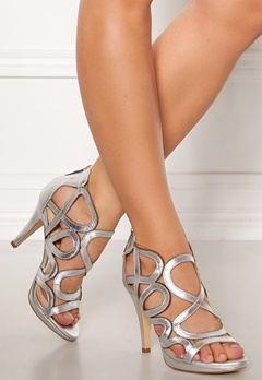 SARGOSSA Redefined Leather Heels Silver Bubbleroom.fi