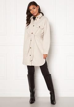 Pieces Riema Overshirt Jacket Whitecap Gray Bubbleroom.fi