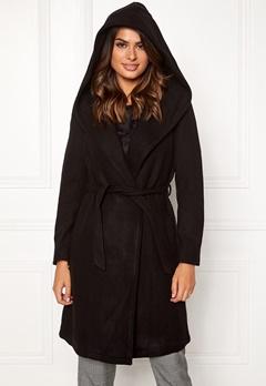 ONLY Riley Wool Wrap Coat Black Bubbleroom.fi
