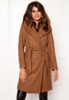 ONLY Riley Wool Wrap Coat Camel Bubbleroom.fi