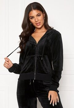 Juicy Couture Robertson Classic Velour Hoodie Black Bubbleroom.fi