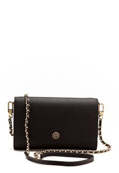 TORY BURCH Robinson Chain Wallet Black Bubbleroom.fi