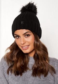 ROCKANDBLUE Hat Pom Pom Beanie Knit Black Bubbleroom.fi
