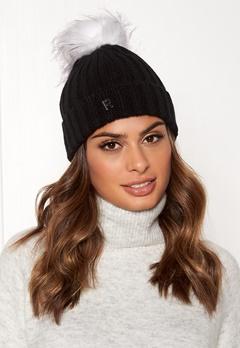 ROCKANDBLUE Hat Pom Pom Beanie Knit Black/Bleached Bubbleroom.fi