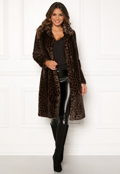 ROCKANDBLUE Penny Faux Fur Brownish/Leopard Bubbleroom.fi