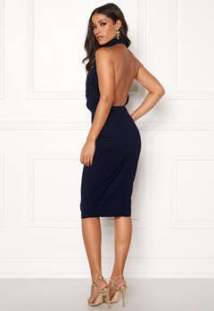 AX Paris Rouch Halter Midi Dress Navy Bubbleroom.fi