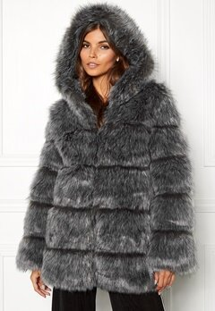 AMO Couture Rubens Faux Fur Coat Silver Fox Bubbleroom.fi