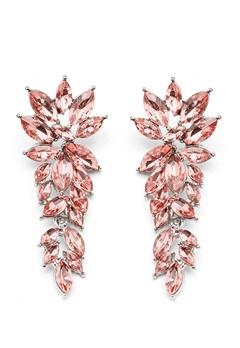SNÖ of Sweden Rush Pendant Earrings Silver/Light Pink Bubbleroom.fi