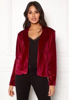 Rut & Circle Adina Velvet Jacket Rococco Red Bubbleroom.fi