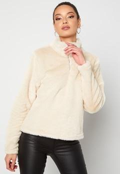Rut & Circle Alex Fur Sweater Sand Bubbleroom.fi