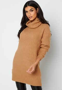 Rut & Circle Alexa Knit Dress 154 Camel bubbleroom.fi