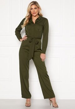 Rut & Circle Alice Workwear Jumpsuit Khaki Green Bubbleroom.fi
