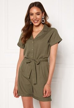 Rut & Circle Andrea Playsuit Army Green Bubbleroom.fi